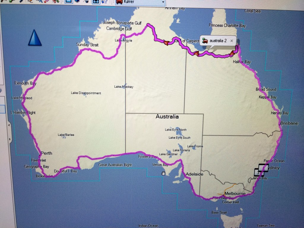 And here is our route…