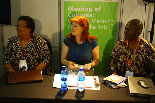 Margie Reese (USA), Joanne Orr (UK) and Olu Alake (UK), 4th World Summit on Arts & Culture