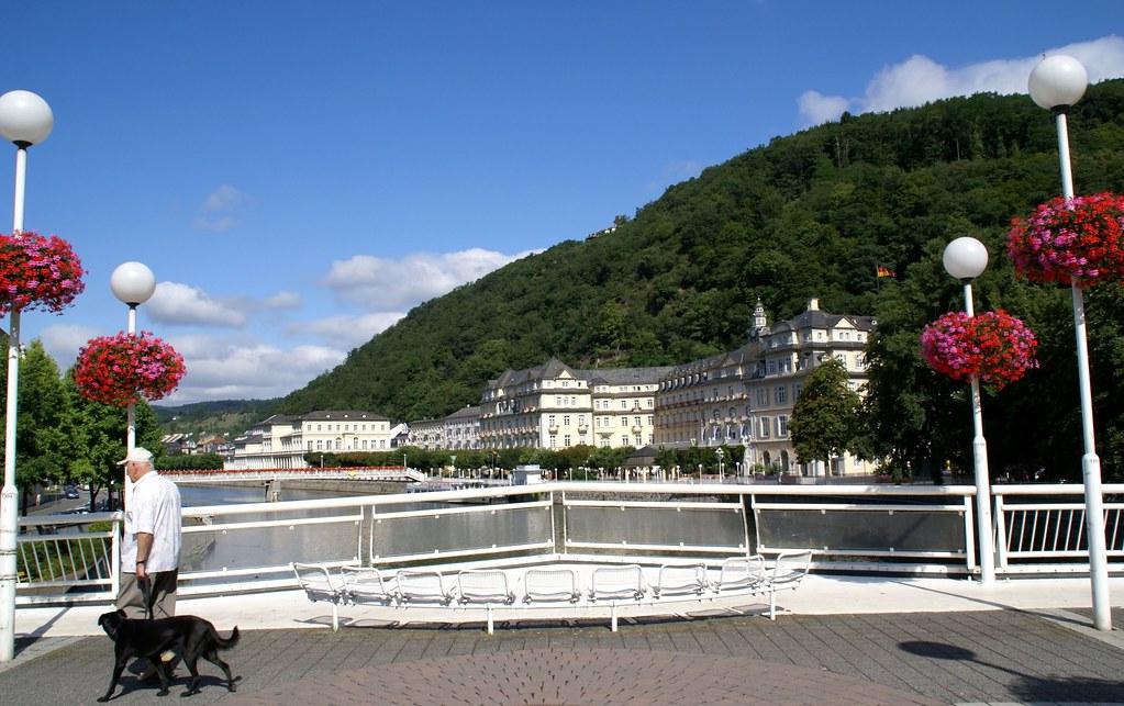 Bad Ems, Lahnbrücke, Kurhaus, Kurhotel und Kursaal (Lahn bridge, Spa House, Spa Hotel and Kursaal)