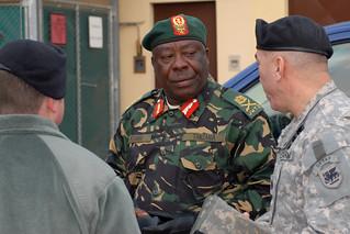 Maj. Gen. Kisamba of Tanzania visit U.S. Army Africa headquarters at Caserma Ederle, Italy, 20100127