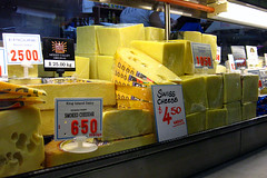 Queen Victoria Market cheese stall