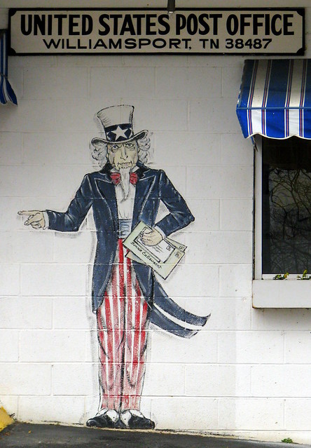 Williamsport, TN Post Office Artwork 2: Uncle Sam