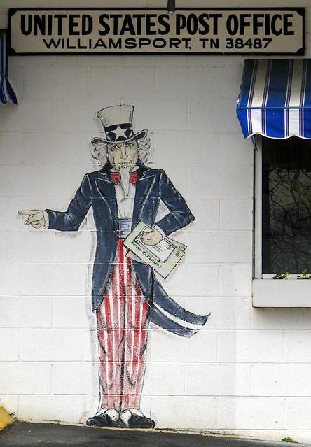 Williamsport, TN Post Office Artwork 2: Uncle Sam | Flickr Photo ...