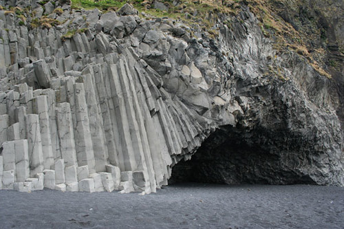Basalt formations in Iceland