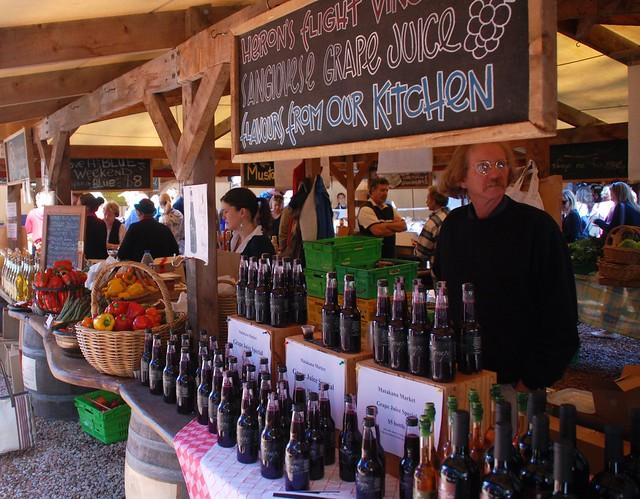 Wine at Matakana Farmers Market