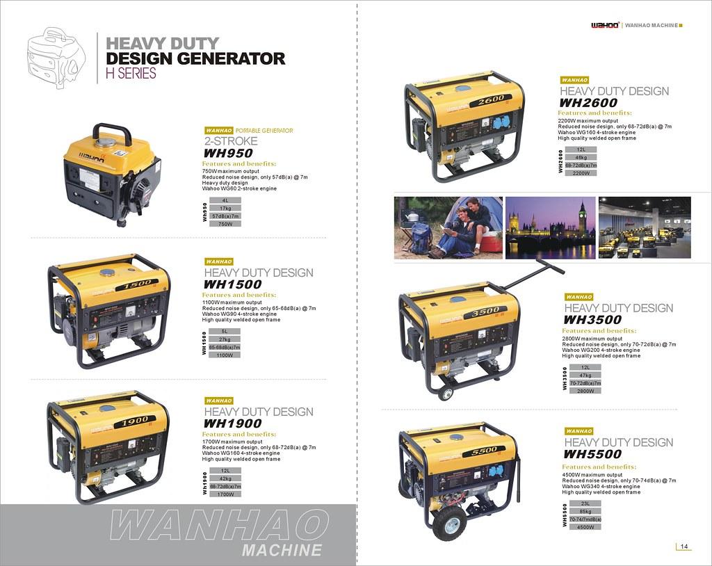 Heavy Duty Gasoline Generator P13-14