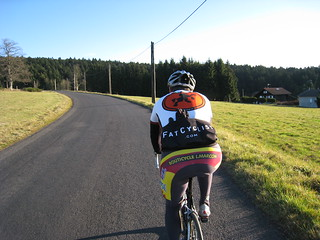 Fat Cyclist on the road