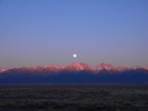 sunset moonrise swcolorado