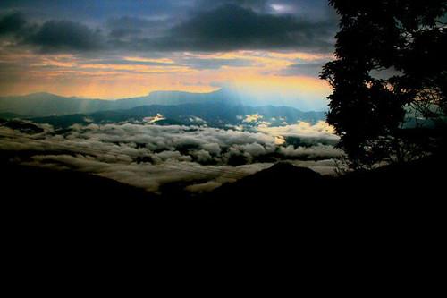 mountains clouds sunrise mizo aizawl mizoram sakawrhmuituai