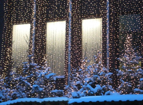 snow and lights