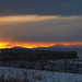 sunset & snow fences - view leaving DIA