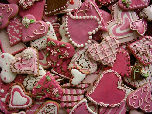 Galletas para San Valentín. Galería.