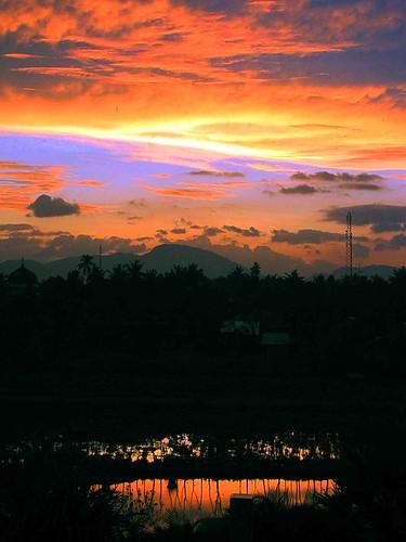 sunset reflection indonesia aceh province istimewa propinsi