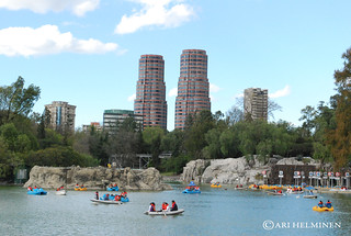 Chapultepec park with Polanco towers