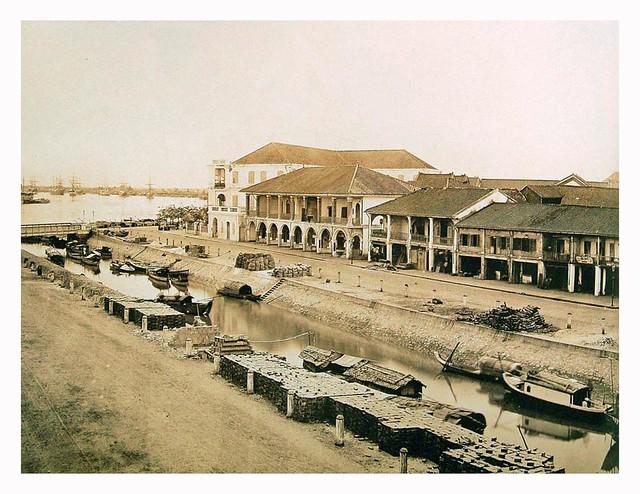 Saigon - Le grand canal et la rue Charner (DL Nguyen Hue ngay nay)