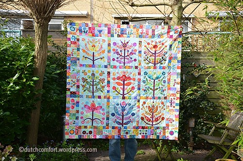 Lollypop Tree quilt top finished