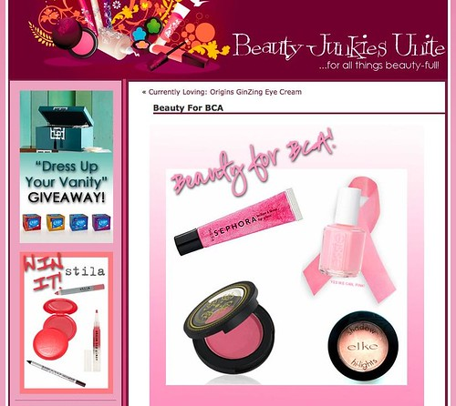 Beauty For BCA | Beauty Junkies Unite