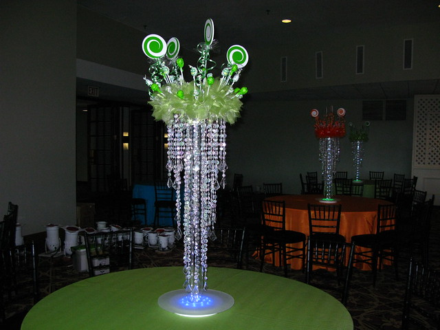 Candy Themed Bat Mitzvah centerpiece Blue Hills Country Club in Canton