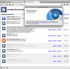 Mac Chromium 4.0.238.0 (31119) - Extensions
