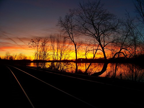 sunset reflection river newjersey pennsylvania nj pa buckscounty delawareriver burlingtoncounty fieldsboro