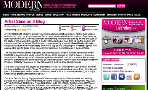 Modern Salon : Artist Session 3 Blog