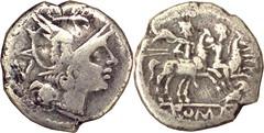 135/2 Roma Dioscuri owl Quinarius, unique, not in Crawford