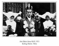 1951, Am Herz Jesu Stift, König Heinrich Milz, SW065