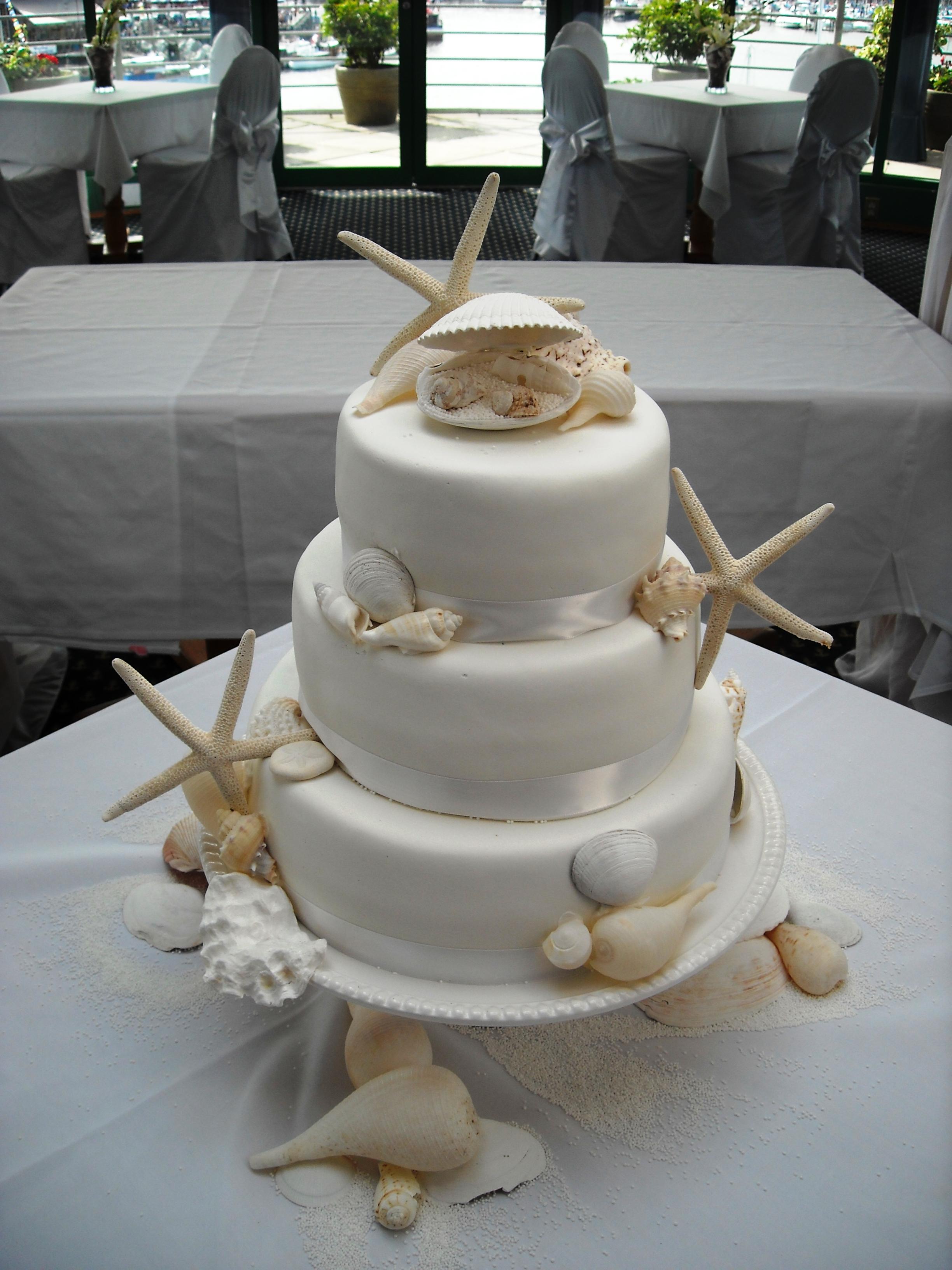 Sea Shell Wedding Cake Vancouver B C Sea Shell Wedding C