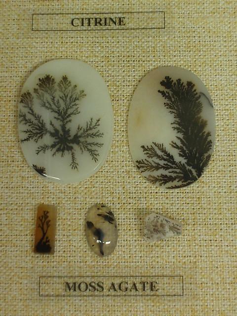 苔藓花纹的玛瑙