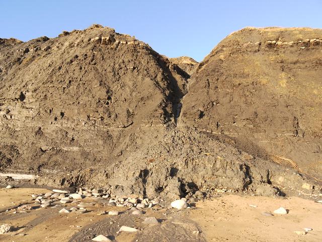 Header of alluvial cone
