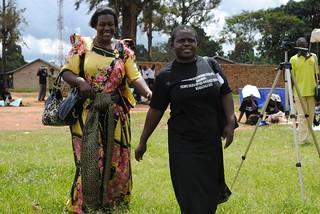 jane in black with the Government representative woman member of parliament of mityana district KC Sharifah Nabukenya
