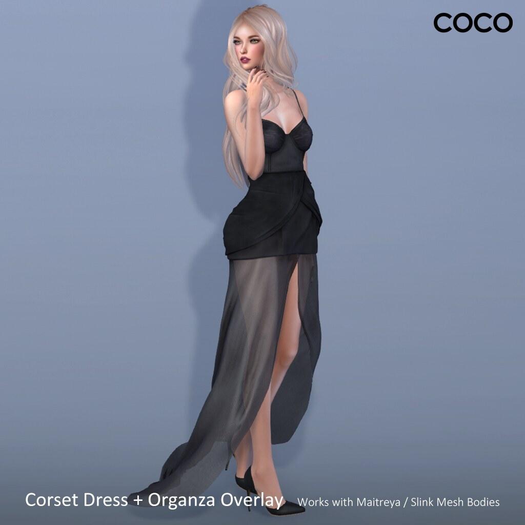 COCO_CorsetDress+OrganzaOverlay - SecondLifeHub.com