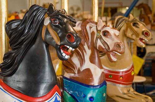 horse museum antique carousel kansas merrygoround leavenworth cwparker