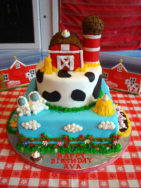 Barnyard theme cake  Flickr - Photo Sharing!