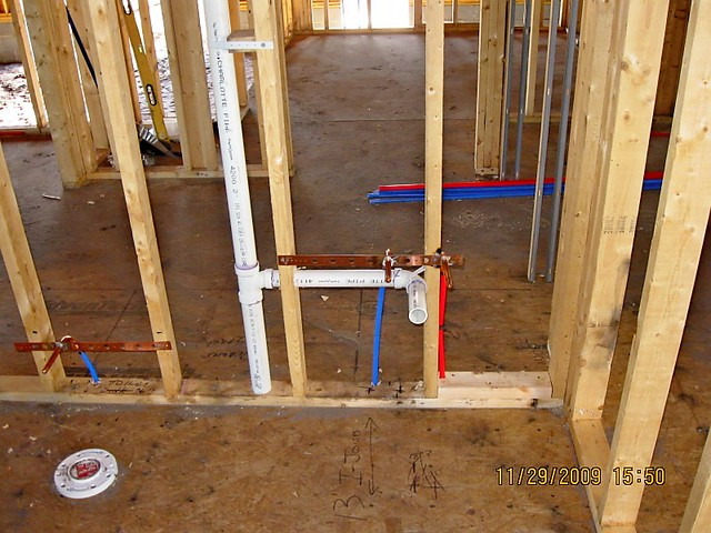 Photo for New construction plumbing rough in