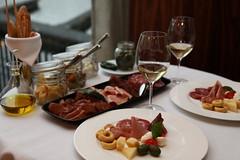 breakfast(0.0), hors d'oeuvre(1.0), meal(1.0), dinner(1.0), lunch(1.0), supper(1.0), brunch(1.0), tapas(1.0), meat(1.0), food(1.0), full breakfast(1.0), dish(1.0), cuisine(1.0),