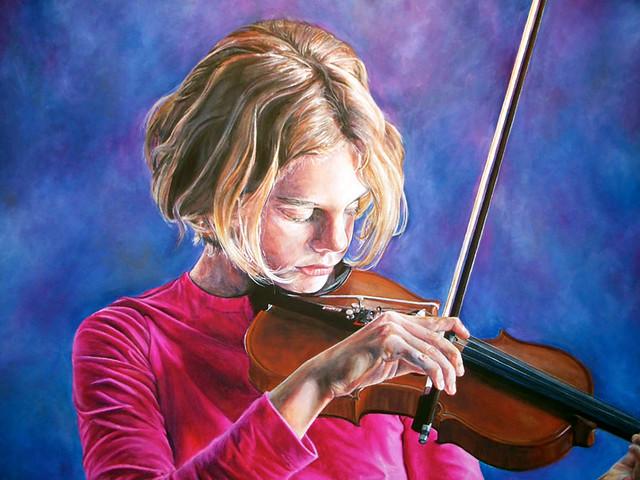 Violin Girl painting | Flickr - Photo Sharing!