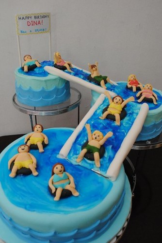 Pool Themed Birthday Cakes