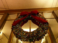 gown(0.0), clothing(0.0), dress(0.0), art(1.0), decor(1.0), textile(1.0), christmas decoration(1.0), wreath(1.0),