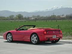 ferrari 550(0.0), ferrari 348(0.0), ferrari f50(0.0), ferrari 575m maranello(0.0), ferrari 360(0.0), race car(1.0), automobile(1.0), automotive exterior(1.0), vehicle(1.0), ferrari f355(1.0), ferrari s.p.a.(1.0), land vehicle(1.0), luxury vehicle(1.0), supercar(1.0), sports car(1.0),