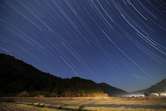 Winter rice fields - Star Trails | by reonides