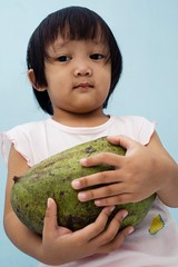 Faizah and the giant mango