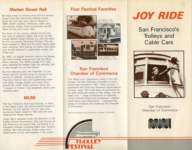 joy ride san franciscos trolleys and cable cars 1987