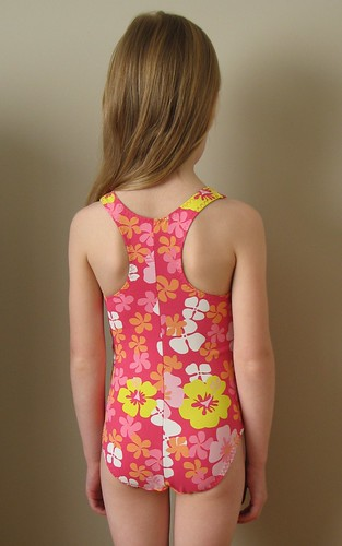Kwik Sew 2605 - Pink Girl's Swimsuit