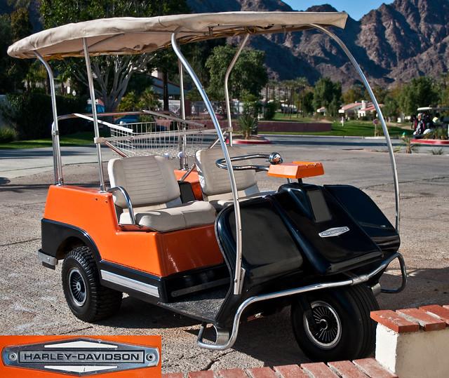 Vintage Harley Davidson Golf Cart
