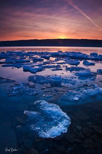 pink blue sunset lake ny ice clouds canon purple windy upstate fingerlakes cayuga cpl 1740l eastshorepark gnd adambaker 5dmarkii