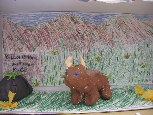 Diorama of Buddy Bison in Yellowstone National Park