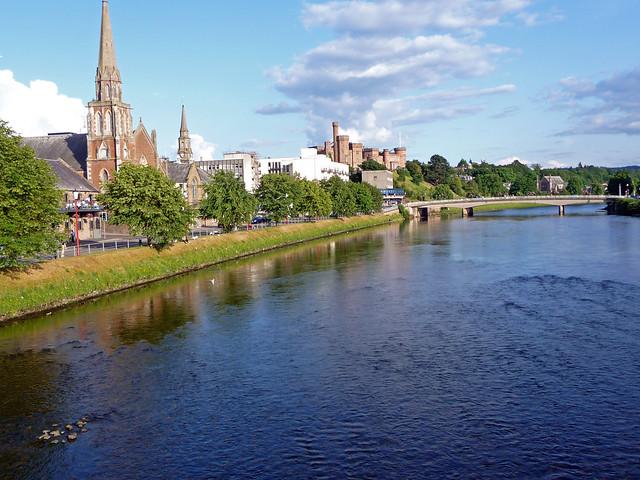 River Ness at Inverness, Scotland