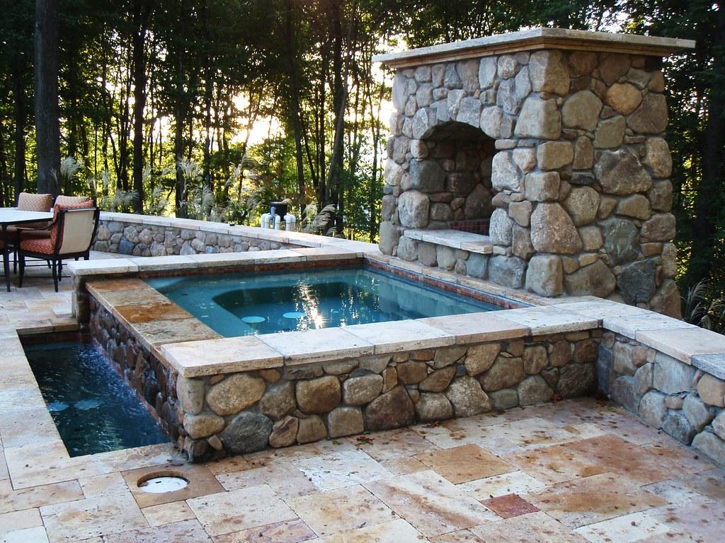 Custom Stone Hot Tub Tepe Landscaping Projects Pinterest