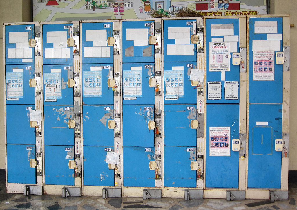 train station lockers